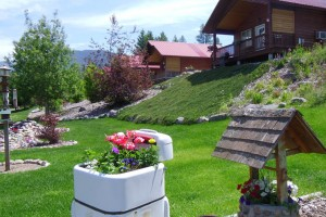 Glaciers' Mountain Resort - best value in cabins :: Exceptionally-priced cabins for Glacier visitors. Balcony & decks showcase wildlife, enjoy fishing & rafting down the street. Amtrak stop 5 minutes away. Gorgeous gardens.