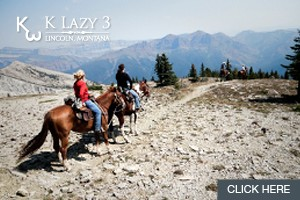 K Lazy 3 Adventures | Glamping Trips & Trail Rides :: Looking to experience the wilderness in comfort & safety? Join K Lazy 3 for a day trail ride, overnight or multi-day pack trip. Chinese Wall, CDT, or Scapegoat. Book Now.