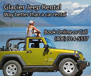 Glacier Jeep Rentals : Explore Montana in a Jeep! Imagine driving Glacier National Park''s legendary Going-to-the-Sun Road with the top down, taking in all the beauty. Call us today for more info!  Priced less than $200/day.