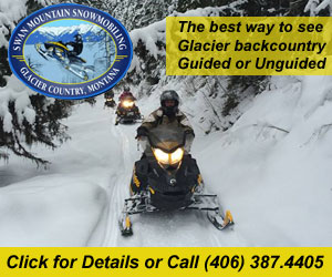 Swan Mountain Snowmobiling Tours & Rentals : Experience exhilarating winter fun. Select from guided snowmobile tours including a 2-hour QUICKIE, half-day or full-day tour, or unguided with our snowmobile rentals for riders who want to experience Glacier country on their own.