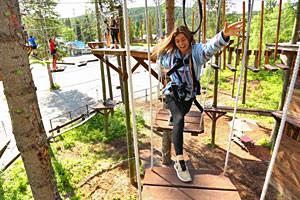 Glacier Highline - family adventures