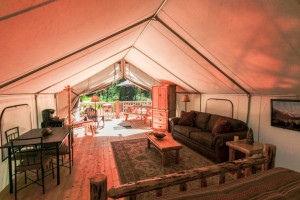 Glamping at North Forty