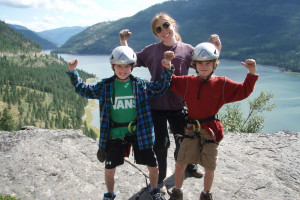 Rock Climb Montana - teach kids to climb
