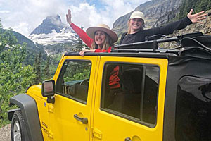 Glacier Jeep Rentals - enjoy in open air