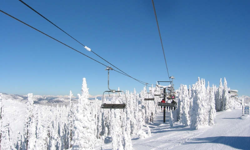 Skiing at Big Mountain in Whitefish