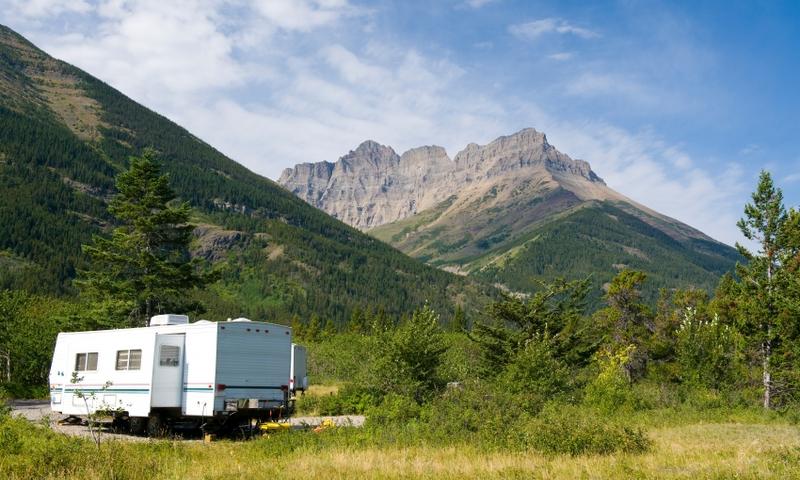 Waterton Lakes National Park Glacier Camping Rv