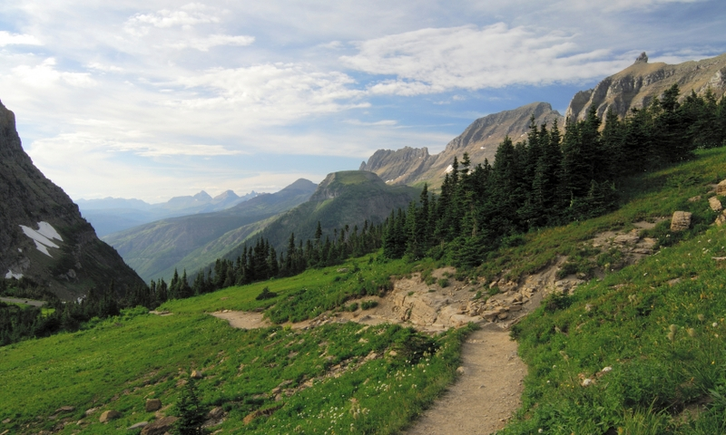 Glacier National Park Montana Hiking Trail