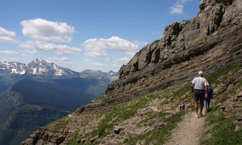 Glacier National Park Montana Garden Wall Hiking Trail