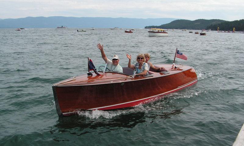Boating on Flathead Lake