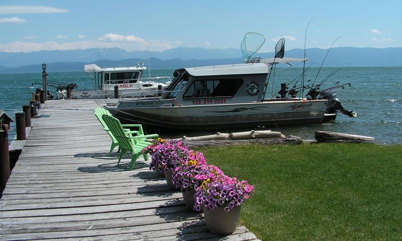 Boat Marina on Flathead Lake