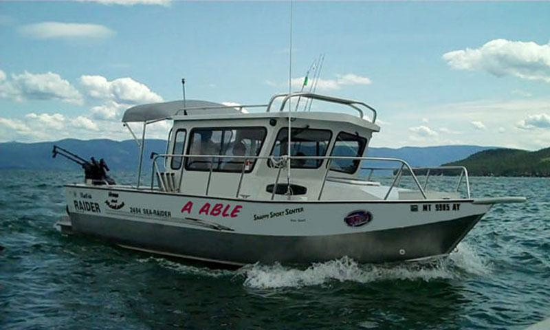 Fishing Boat on Flathead Lake