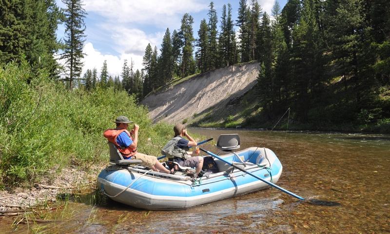Swan River Fishing Floating Rafting Montana Swan Lake