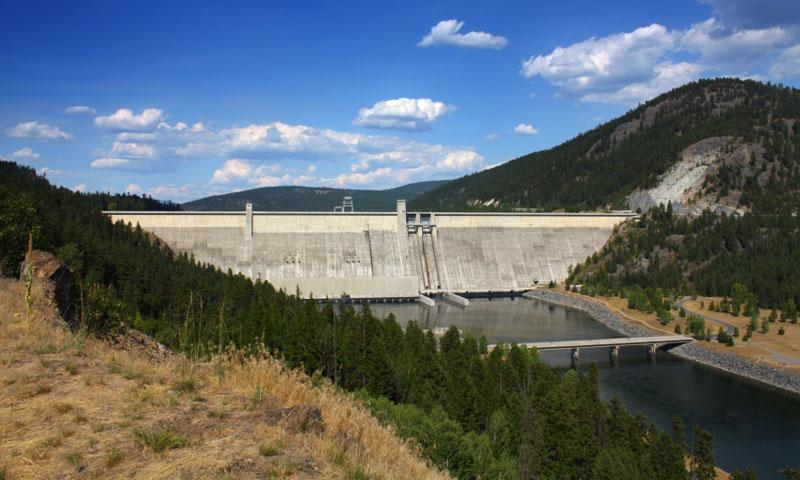 Libby Dam on Lake Koocanusa