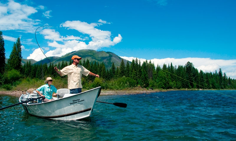 Fly Fishing Flathead River near Glacier National Park