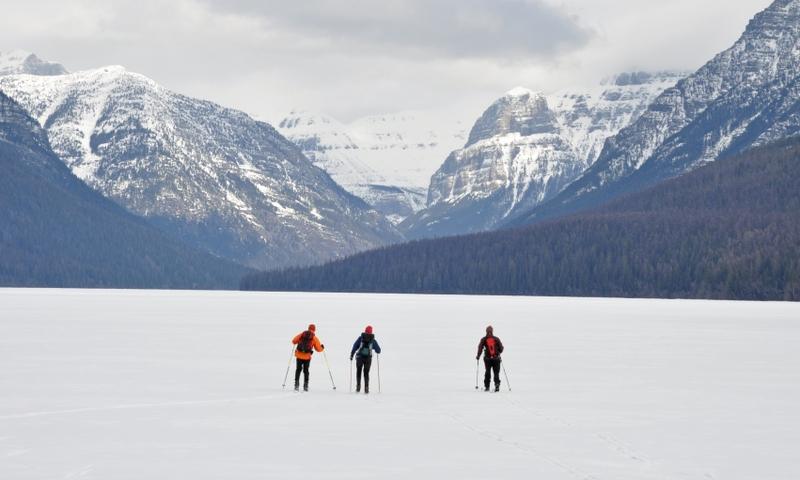 Glacier National Park Montana Bowman Lake Cross Country Skiing Backcountry Skiing Winter