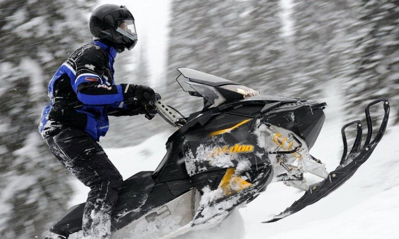 Snowmobiling in Whitefish Montana