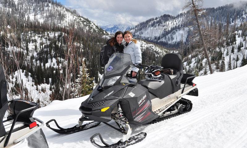 Snowmobiling near Whitefish Montana