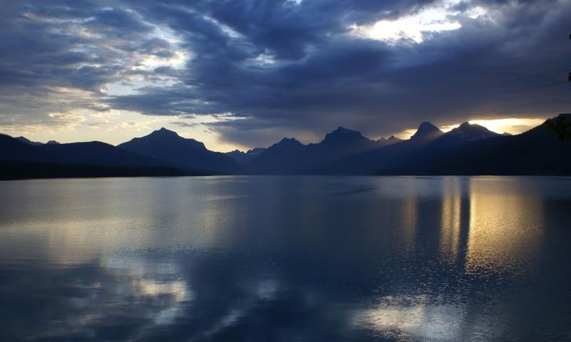 Glacier National Park Montana Lake Mcdonald Sunrise