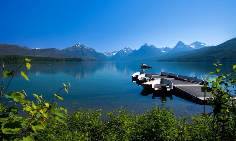 Glacier National Park Montana Lake Mcdonald Apgar Village