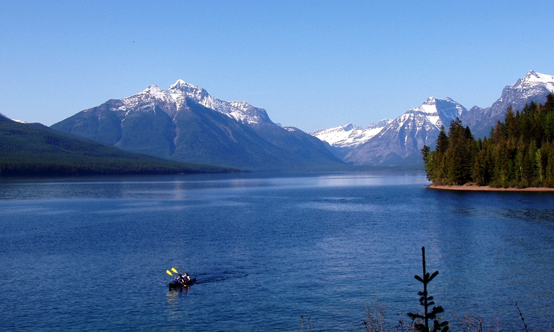 Lake McDonald Kayaking Glacier