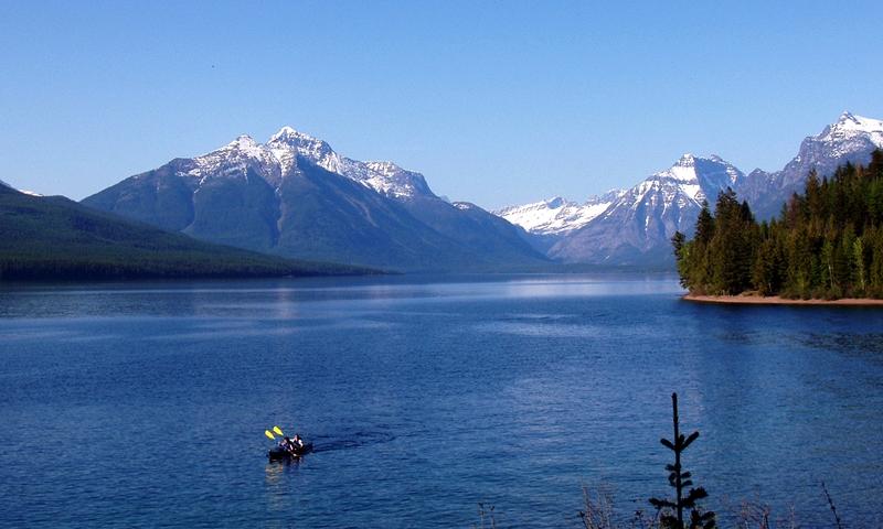 Glacier National Park Montana Lake Mcdonald Kayak Kayaking