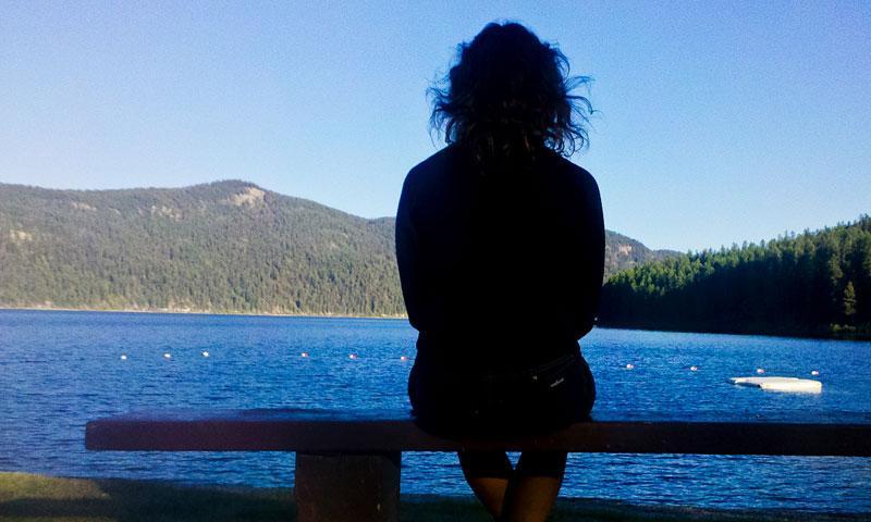 Overlooking Tally Lake near Whitefish Montana