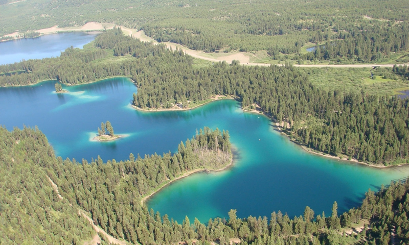 Thompson Chain Of Lakes Montana Fishing Camping Boating