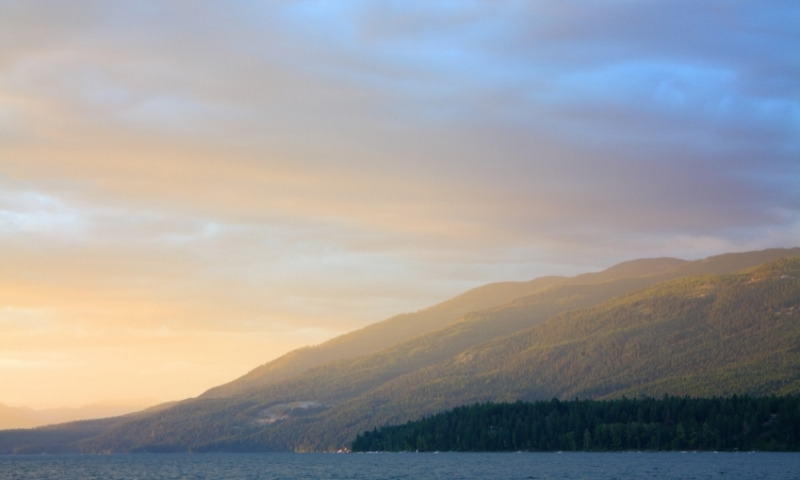 Sunset over Whitefish Lake