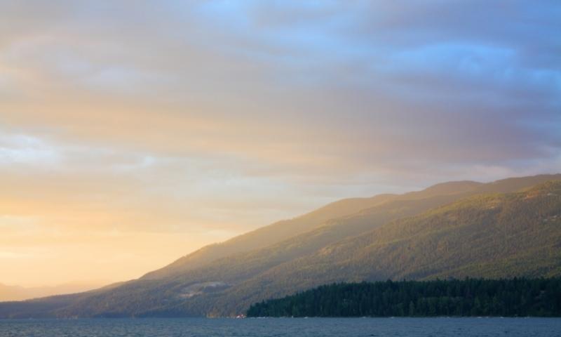 Sunset over Whitefish Lake