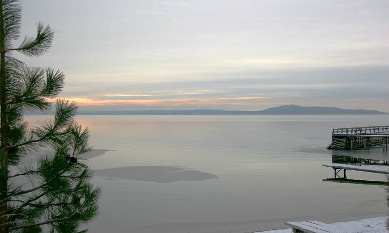 Flathead Lake Montana Winter